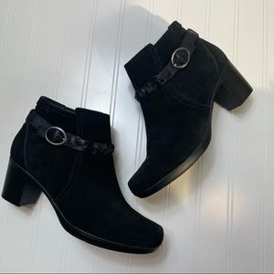 Clarks • Braided Ankle Booties